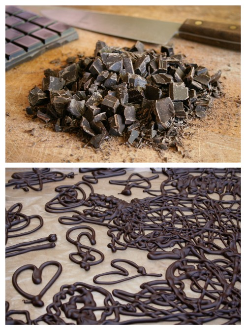 Dark Chocolate Decorations