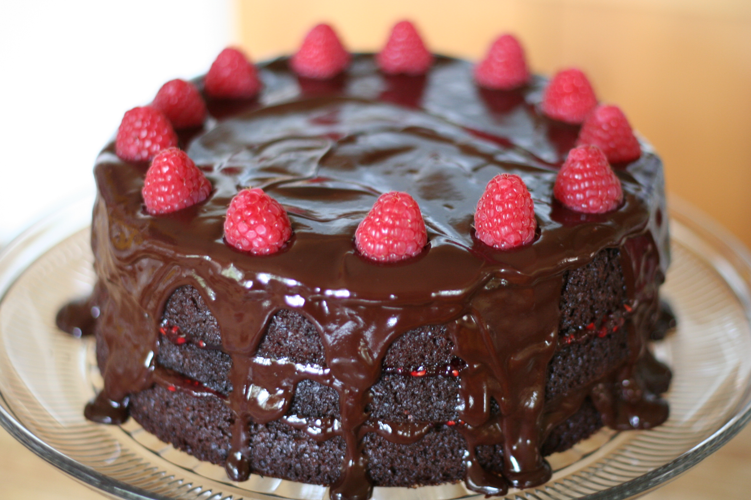 Vegan Gluten Free Dark Chocolate Cake